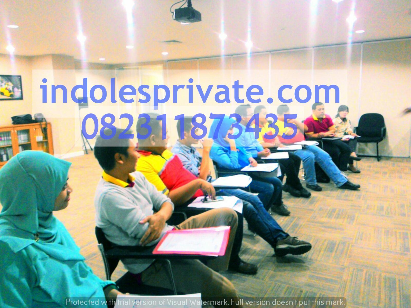 In house Training Bahasa Inggris Di Bitung Tangerang